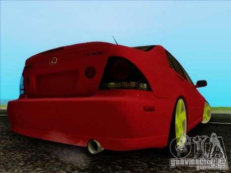 Lexus IS300 Edit для GTA San Andreas вид сзади слева