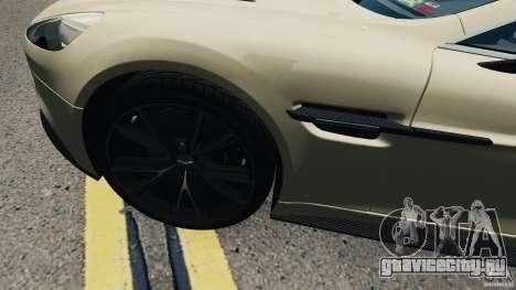 Aston Martin Vanquish 2013 для GTA 4 вид сзади