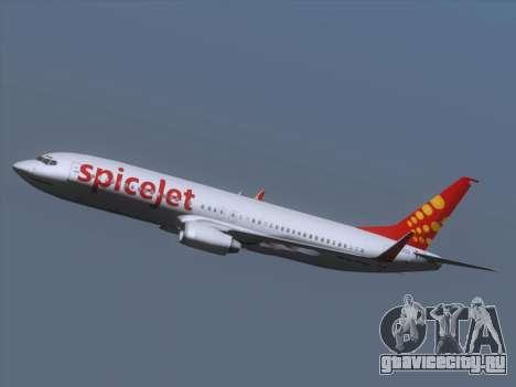 Boeing 737-8F2 Spicejet для GTA San Andreas вид сверху