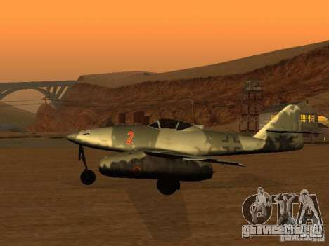 Messerschmitt Me262 для GTA San Andreas вид слева