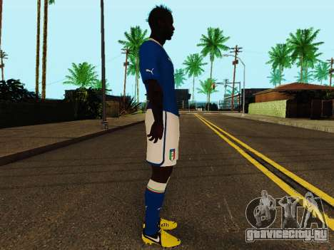 Марио Балотелли v4 для GTA San Andreas второй скриншот