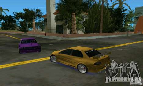 Mitsubishi Lancer Evo для GTA Vice City вид справа