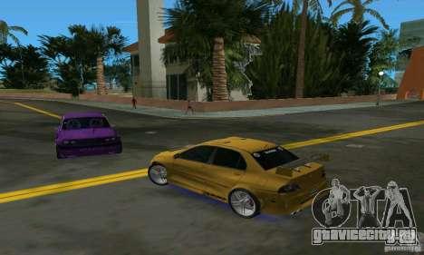 Mitsubishi Lancer Evo для GTA Vice City вид справа