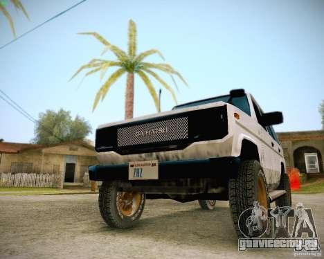 Daihatsu Taft Hiline Long для GTA San Andreas вид изнутри