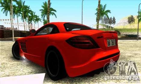 Mercedes Mclaren SLR 722 для GTA San Andreas вид слева