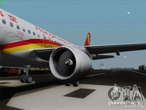 Airbus A320-214 Hong Kong Airlines для GTA San Andreas вид слева