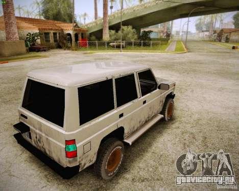 Daihatsu Taft Hiline Long для GTA San Andreas вид сзади слева