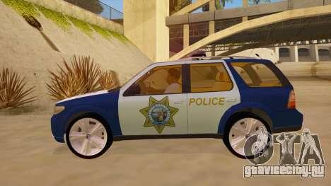 Saab 9-7X Police для GTA San Andreas вид слева