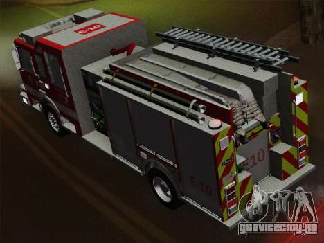 Pierce Saber LAFD Engine 10 для GTA San Andreas двигатель