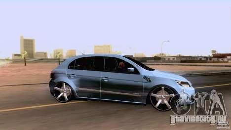 Volkswagen Golf G5 для GTA San Andreas вид сзади слева