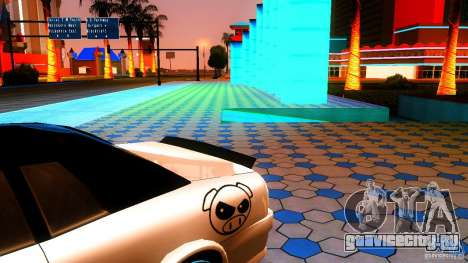 Black and White Elegy для GTA San Andreas вид сзади слева