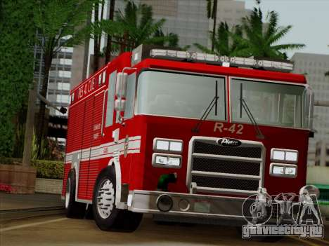Pierce Contender LAFD Rescue 42 для GTA San Andreas вид сзади
