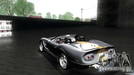 Shelby Series 1 1999 для GTA San Andreas вид слева