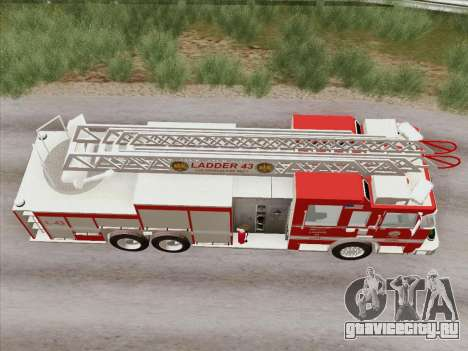 Pierce Arrow LAFD Ladder 43 для GTA San Andreas вид сбоку