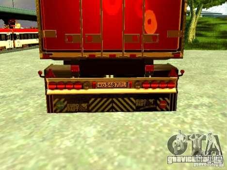 Прицеп М.Видео для GTA San Andreas вид сзади
