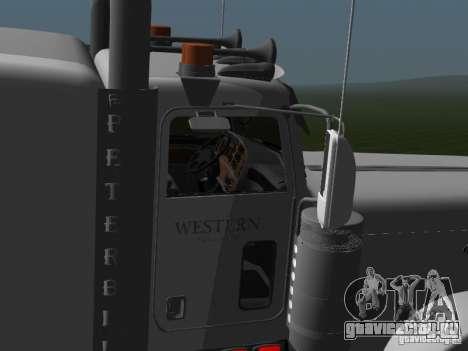 Peterbilt 389 2009 для GTA San Andreas вид сзади слева