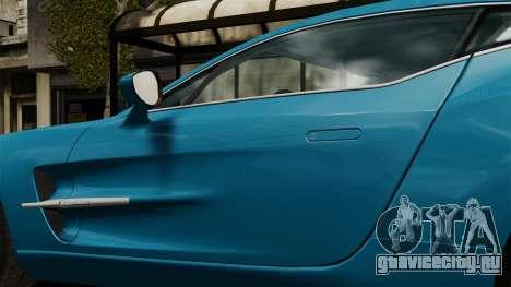 Aston Martin One-77 для GTA 4 вид сзади