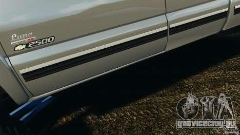 Chevrolet Silverado 2500 Lifted Edition 2000 для GTA 4 двигатель
