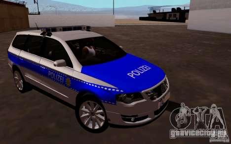 Volkswagen Passat B6 Variant Polizei для GTA San Andreas