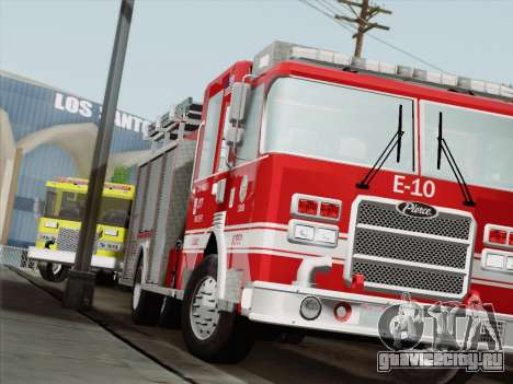 Pierce Saber LAFD Engine 10 для GTA San Andreas вид слева