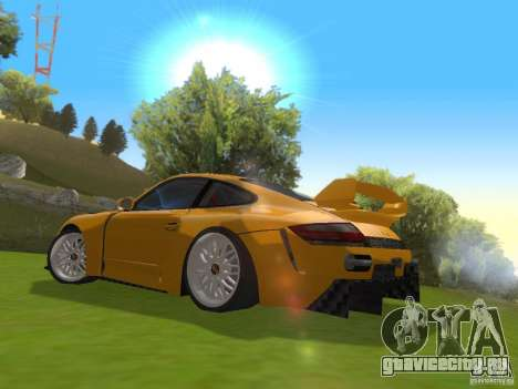 Porsche 911 Turbo Tuning для GTA San Andreas вид сзади слева