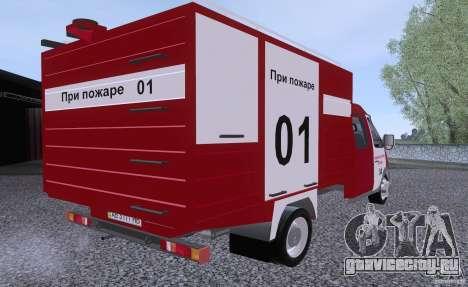ГАЗ 33023 Пожарная для GTA San Andreas вид слева