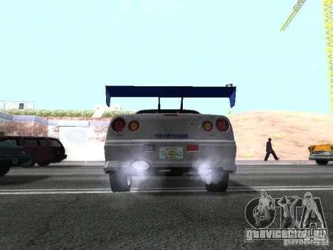 Nissan Skyline GT-R R34 для GTA San Andreas вид справа