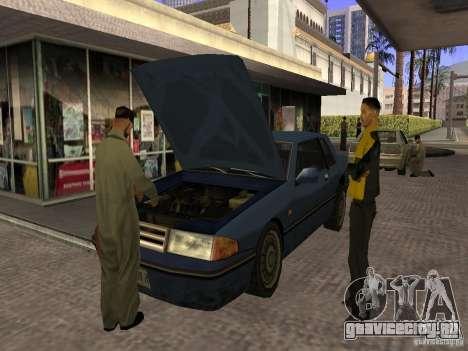 Оживлённая заправка в Лос Сантос для GTA San Andreas третий скриншот