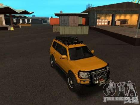 Mitsubishi Pajero OffRoad v2 для GTA San Andreas вид сзади