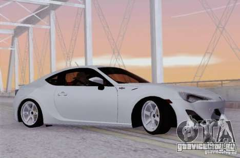 Toyota GT86 для GTA San Andreas вид слева