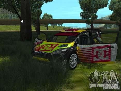Ford Fiesta H.F.H.V. Ken Block Gymkhana 5 для GTA San Andreas вид сзади