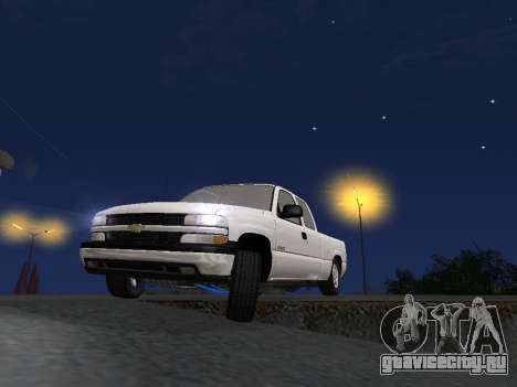 Chevorlet Silverado 2000 для GTA San Andreas вид снизу