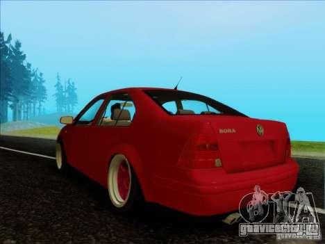 Volkswagen Bora HellaFlush для GTA San Andreas вид сзади слева