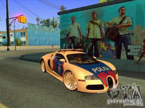 Bugatti Veyron Indonesian Police для GTA San Andreas