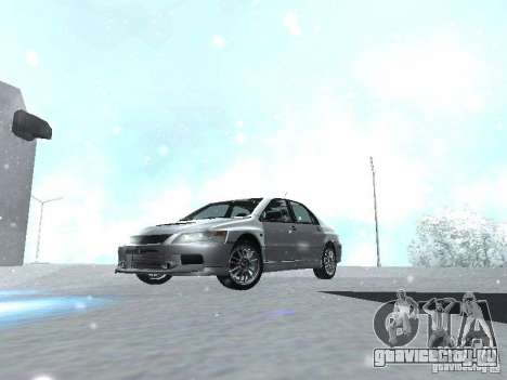 Mitsubishi Lancer Evo IX MR Evolution для GTA San Andreas вид изнутри