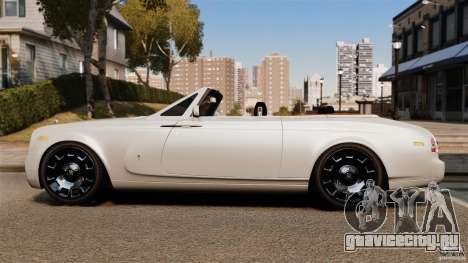 Rolls-Royce Phantom Convertible 2012 для GTA 4 вид слева