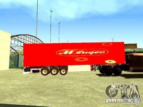 Прицеп М.Видео для GTA San Andreas вид слева
