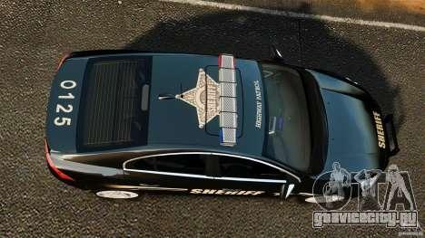 Volvo S60 Sheriff для GTA 4 вид справа