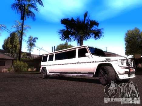 Mercedes-Benz G500 Limousine для GTA San Andreas вид сзади слева