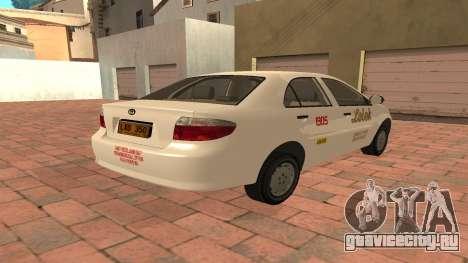 Toyota Corolla - LOLEK TAXI для GTA San Andreas вид справа