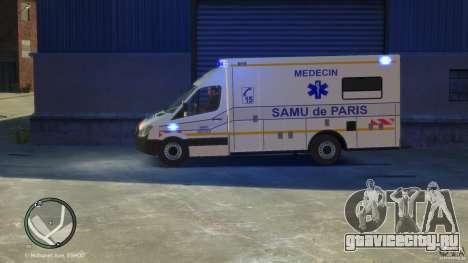 Mercedes-Benz Sprinter Ambulance для GTA 4 вид справа