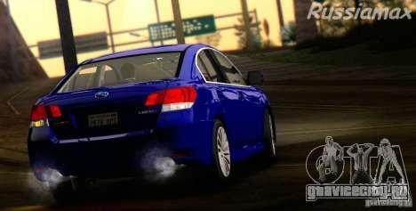Subaru Legacy B4 2010 для GTA San Andreas вид сзади
