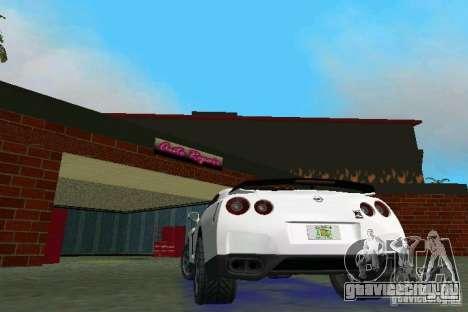 Nissan GT-R Spec V 2010 v1.0 для GTA Vice City вид справа