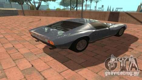 Lamborghini Miura P400 SV 1971 V1.0 для GTA San Andreas вид сзади
