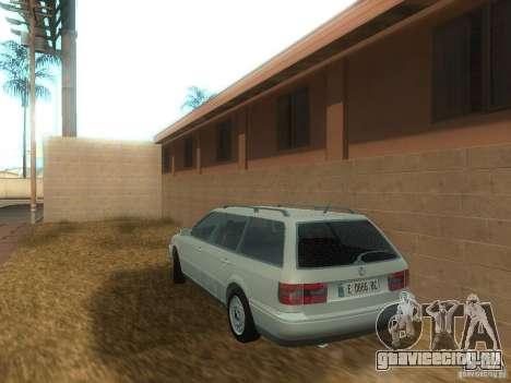 Volkswagen Passat B4 Variant для GTA San Andreas вид сзади слева