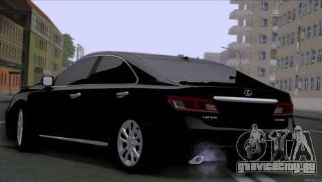 Lexus ES350 для GTA San Andreas вид сзади слева