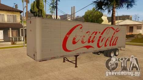 Цельнометаллический прицеп для GTA San Andreas вид изнутри