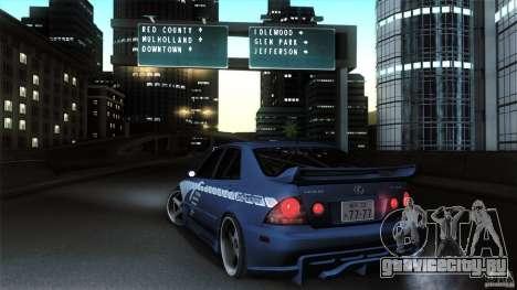 Lexus IS 300 Veilside для GTA San Andreas вид сзади слева