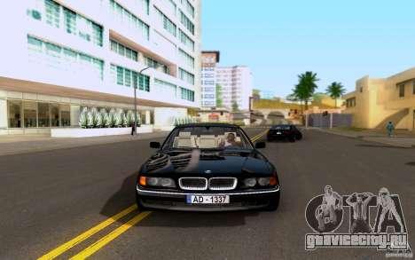 BMW 730i E38 FBI для GTA San Andreas вид сзади слева