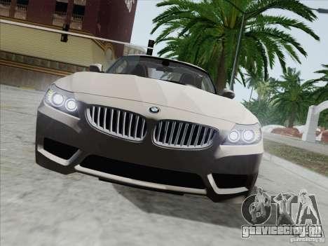 BMW Z4 2011 для GTA San Andreas вид изнутри